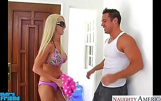 Blonde babe Nikki Benz gives blowjob in POV declare related to