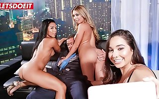 LETSDOEIT - Unpremeditated Club Employer Has Sex With Two Delicious Big Ass Teen Babes (Kat Dior & Morgan Lee)