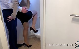 fucked by hotshot on office restroom, Business Bitch