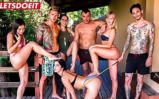 LETSDOEIT - Hot PornStars Have a Kinky Bondage Pool Party (Francys Belle, Valentina Bianco, Loren Minardi)