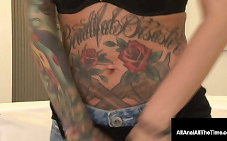 Tattooed Hottie Lily Excursion Butt Banged By Anal Crave Cock!