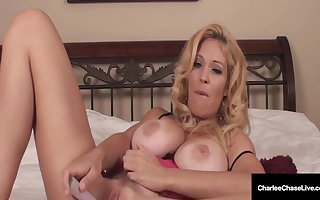Muff Massaging Milf Charlee Chase Rubs Her Succulent Wet Pussy!