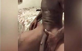 Playin with my Long Big Dick A Little handjob