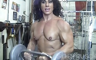 Naked Female Bodybuilder Kiss My Naked Muscles