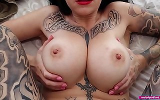 BIG TIT Chubby Botheration Slutty HOUSEWIFE Cheats and Fucks The Plumber While Her Tighten one's belt Is go forwards Tradie Porn HARDCORE Pov - Melody Radford