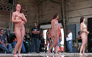 bonny biker chicks getting fully nude in iowa soiled tshirt contest