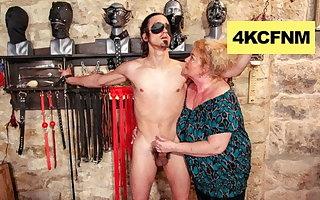 Fat Grandma Finally Engaged It - FemDom