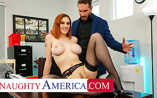 Crummy America - Lilian Stone drains her boss' balls