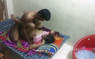Real Circumscribe Married Telugu Couple Fucking