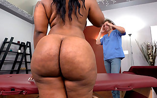 BBW Ebony Legal papers London Gets Fucked Hard After Massage