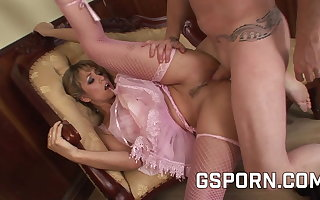 Hot blonde classic dancer fucked hard by inexact cock