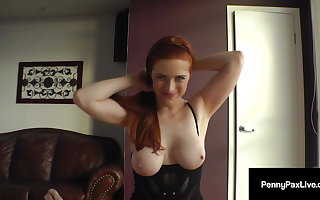 Making Stocking Penny Pax Fills Her Indiscretion & Snatch With Dick!