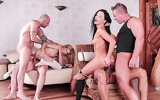 Wedge US - Hardcore orgy and DP for two hotties Daphne Klyde and Monique Woods