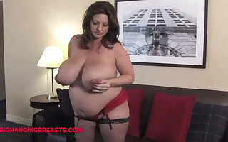 9 months pregnant thither huge milk loaded tits
