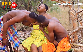 Big ass ebony takes double dick and asked for more