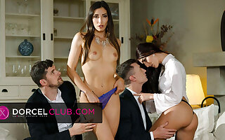 Indecent foursome with Clea Gaultier increased by Katy Rose