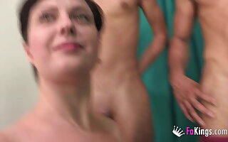 BUSTY Romanian housewife picks and bangs one be required of the two