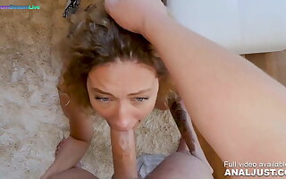 Anal scene - Curly haired Stasy Riviera cumming hard here anal action