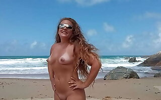 married showing off at Pinho beach in Santa Catarina Brazil naturism and nudism