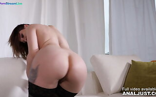 Luna Melba by Anal Just in Stunning Luna Melba fucked on her