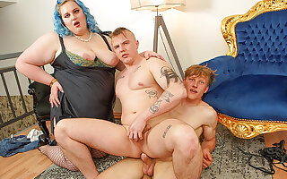 Kinky BBW Makes her Toy Boys Fuck