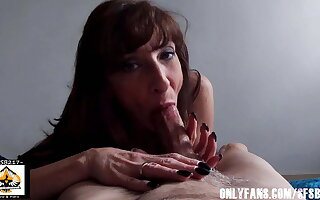 Dark Haired Milf Black Nails Awesome Blowjob