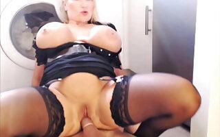 Sophie James Rides A Big Cock