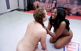 Lesbian Wrestling As Carmen Valentina Fights Mocha Menage