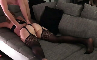 German Milf gets say no to niggardly pussy and ass fingered