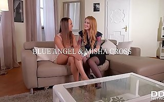 Teen Misha Cross Fucked in the Ass While Licking Blue Angel's Juicy Twat