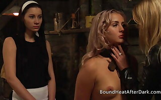 Bound Lesbian Slave In Shackles Be held Merciless Madame