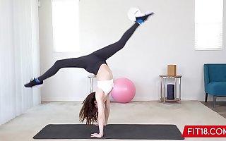 FIT18 - Aliya Brynn - 50kg - Casting Flexible and Horny Diminutive Dancer