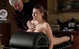 Interrupted slut with huge bowels used as a training dummy