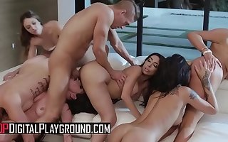 (Honey Gold, Karmen Karma, Kissa Sins, Lela Star, Nicolette Shea, Quinn Wilde, Xander Corvus) - Yuppy Bitches Scene 4 - Digital Playground