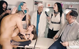 FORBONDAGE - Big Contraband Lady Amirah Adara Blows And Gets Group Vassalage Fucked