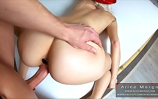 Amateur Fixed Anal Sex With Amazing Creampie! Sperm Flows Foreigner Hole! AliceMargo.com