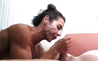 Naked Female Bodybuilder Fucks and Sucks Cock