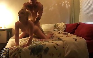 Sergeant Miles and Kate Kennedy make the beast with two backs have rough sex be required of fun angle 1