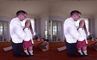 DDFNetwork VR - Blue Angel Spanked and Fucked Changeless in VR