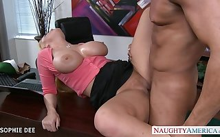 Awesome Sophie Dee fucking in the slot